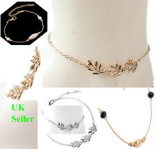 Silver gold plated Chain beads Ankle Bracelet Women Anklet Jewellery CHRISTMAS