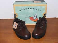Hush Puppies Buccaneer Dark Brown Leather Dress Shoes