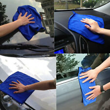 Blue Microfiber Cleaning Towels Cloths Kitchen Wash Car Home Wash Clean Cloth