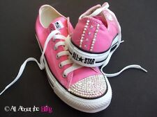 CONVERSE ALL STAR Pink using iridescent SWAROVSKI CRYSTALS & STARS WOMEN'S 5-10