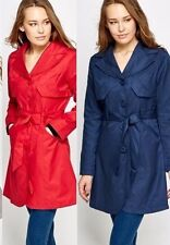 New Ladies Womens Breasted Belted Light Spring Slim Fit Trench Mac Coat UK 10-16