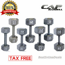 CAP Barbell Dumbbells Cast Iron PAIR Hex Weight Fitness Gym Home Workout Set 2