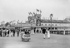 Atlantic City, Steeplechase Boardwalk, early 1900s, Giclee Fine Art Photo Print