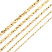 High Quality Gold Plating Rope Chain Stainless Steel Necklace For Women Men Gold