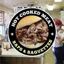 Hot Meat Baguettes Catering Sign Window Cafe Restaurant Stickers Graphics Decal