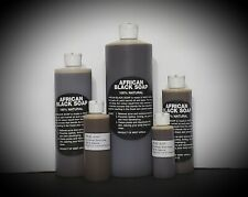 100% PURE  RAW AFRICAN LIQUID BLACK SOAP 2oz - 1 Gallon GHANA BUY 3 GET 1 FREE