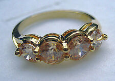 Size 5-9 Fine lady's champagne sapphire 10kt yellow gold filled ring