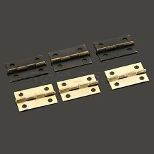 10/30/50pcs Door Butt Hinges Cabinet Drawer Wooden Box Iron Hinge with Screws