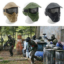 Safety Metal Mesh Protective Airsoft Military Tactical Full Face Goggles Mask2v