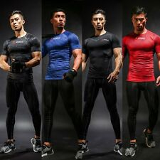 Athmile Muscle Short Sleeve Boybuilding Sport Slim Fitness Cycling Gym T Shirt