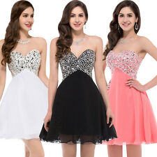 Mini Short Beaded Party Evening Dress Ball Formal Prom Dress Wedding Gown New