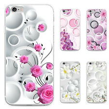 FLORAL CIRCLES PRINT PHONE CASE COVER FOR SAMSUNG GALAXY S6 IPHONE 6 6S DURABLE