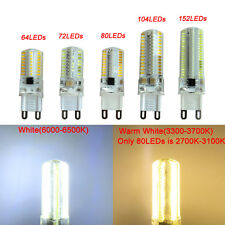 1x G9 64/72/80/104/152 3014 SMD LED Light Corn Bulb Silicone Lamp Warm/White