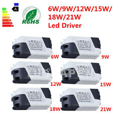New Dimmable LED Light Lamp Driver Transformer Power Supply 6/9/12/15/18/21W JX