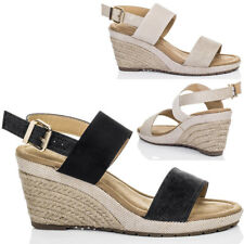 Womens Open Peep Toe Wedge Heel Espadrille Barely There Sandals Pumps Shoes Sz 5