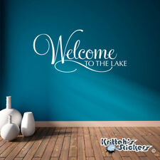 Welcome To The Lake Vinyl Wall Decal Quote - house cabin art decor sticker L177