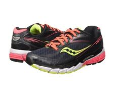 Saucony Women's Ride 8 Running Shoe, Mid/Coral/Citron, 10.5
