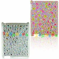 BLING RESIN CRYSTAL PEARL HANDMADE HARD BACK CASE COVER FOR IPAD 2 9.7''