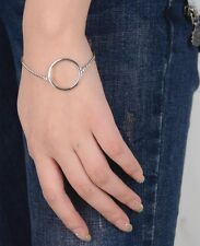 Big Geometric Hoop gold filled Chain Bracelet Charms free shipping