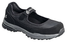 Nautilus Womens Steel Toe SD Mary Jane W Black Faux Leather Shoes