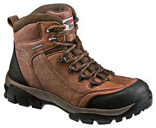Avenger Mens Soft Toe EH Waterproof Hiker W Brown Leather Boots