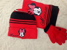 Lot Minnie knit beanie hat children winter knitted  scarf gloves hat set R322