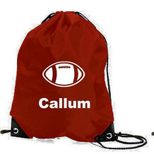 PERSONALISED RUGBY BALL GAMES SPORTS PE SWIM SCHOOL GYM  BAG NAME CHRISTMAS GIFT