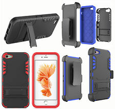 Belt Clip Holster+Card Holder+Stand Tough Case Cover For Apple iPhone 5se
