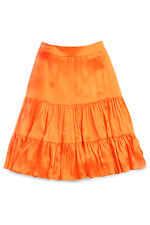 NWT $228 Lilly Pulitzer Jimmie Charmeuse Silk Breaking Orange Skirt 71325