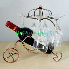 Creative Metal Wine Racks Dual Use Goblet Display Stand Bottle Storage Holder