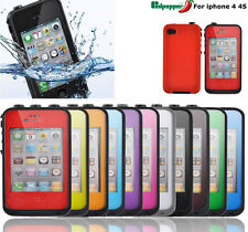 Waterproof Shockproof Dirtproof Stand Case Cover For iPhone 4 4s life in Water