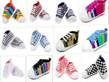 Infant Toddler Baby Boy Girl Soft Sole Crib Shoes Sneaker Newborn to canvas shoe