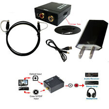 VOL Digital Optic Coaxial RCA Toslink Signal to Analog Audio Converter Adapter