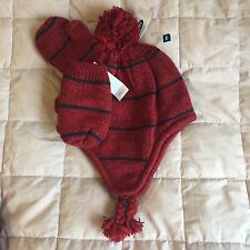 NWT Old Navy Toddler S M L Fleece Lined Pom-Pom Trapper Beanie Mittens Set NeW!