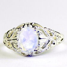 Rainbow Moonstone, 925 Sterling Silver Ladies Ring, SR113-Handmade