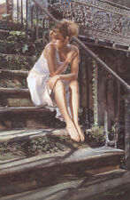 Contemplating the Necessary Steps Steve Hanks LE 75 18x12 Canvas Signed NEW Step