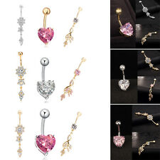 3pcs Pop Navel Belly Rings Rhinestone Button Bar Barbell Body Piercing Jewelry