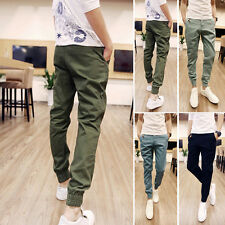 Korean Style Men's Slim Fit Harem Trousers Slacks Pants Casual Jogger Pencil New