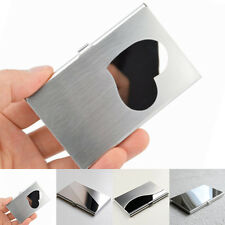 Business ID Credit Card Holder Metal Wallet Pocket Stainless Steel Box Case