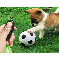 Dog Pet Puppy Agility Training Clicker Button Obedience Trainer Aid Wrist Strap