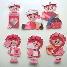 3D-U Pick-CM3 Raggedy Anne Andy Love Christmas Scrapbook Card Embellishment