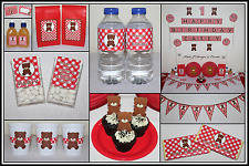 * TEDDY BEARS PICNIC Unisex PERSONALISED 1st Birthday Party Decorations Supplies