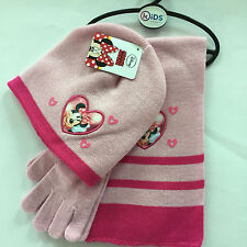 Lot Minnie knit beanie hat children winter knitted  scarf gloves hat set R345