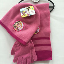 Lot Princess knit beanie hat children winter knitted  scarf gloves hat set R329