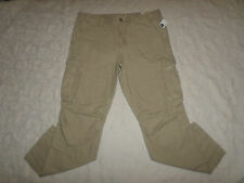 GAP CARGO MILITARY LIVED-IN SLIM PANTS MENS KHAKI COLOR SIZE 33X30 NEW WITH TAGS