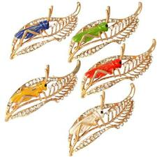 5 Colors Gorgeous Crystal Rhinestone Inset Bug Grasshopper Cricket Pin Brooch