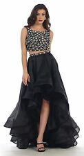 TheDressOutlet Prom Two Piece Set Homecoming Formal High Low Dress