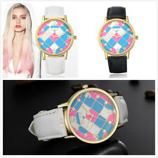 Ladies Casual Style Watches with Leather Strap Band Wrist Watches 2Colour Option