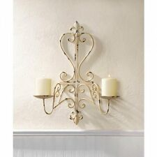 SET of 2 Shabby Candle Sconce Wall Chandelier