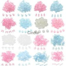 100pcs Lovely Fabric Sew Appliques Baby Shower Christening Scrapbooking Craft